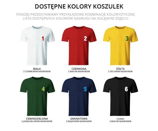 80cae7058 KOSZULKI PIŁKARSKIE Z WŁASNYM NADRUKIEM ROZ. 128 6731068391 - Allegro.pl