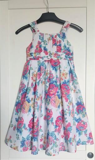 sukienka na lato zjawiskowa wyjątkowa śliczna róże