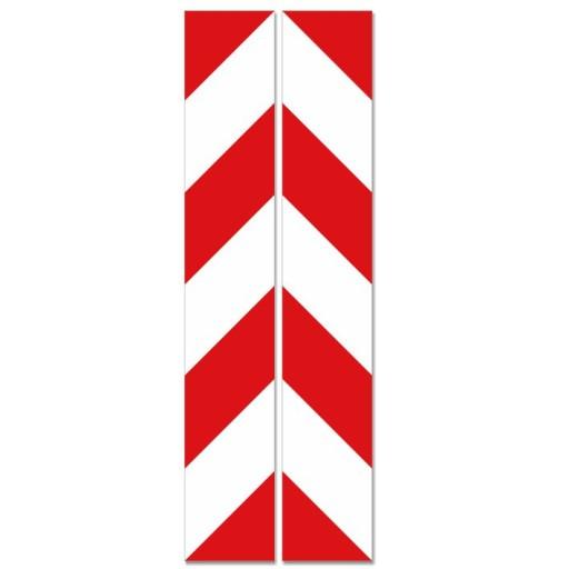 TRANSFERS BELT WARNING WHITE - RED 8x49cm