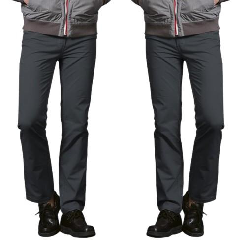 Spodnie Męskie Proste Bawełniane 1037 r 88 cm stal