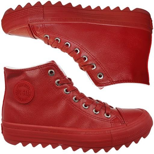 Trampki Big Star damskie czerwone buty EE274112 39
