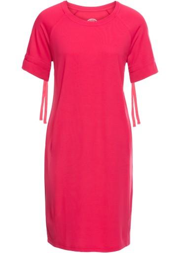 Sukienka z krótkim rękawem różowy bonprix 32/34