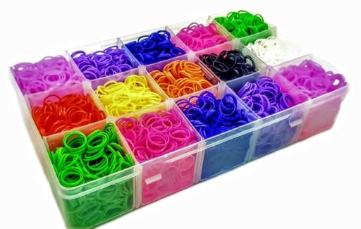 Loom Bands gumki, 6000 sztuk, 3 krosna, 2 kuferki