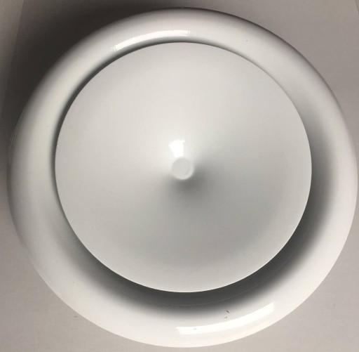 Anemostat nawiewny 200 Biały, kratka zawór ramka