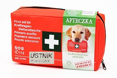 FIRST AID KIT CAR DIN13164 ALL OVER EUROPE + MOUTHPIECE