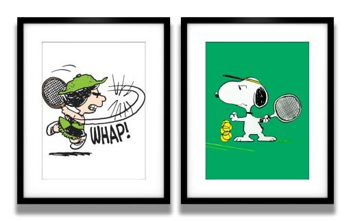 2 Plakaty W Ramach Snoopy Tennis Tenis