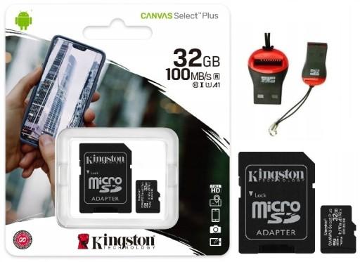 KARTA KINGSTON 32GB MICRO SD CLASS 10 + CZYTNIK M2