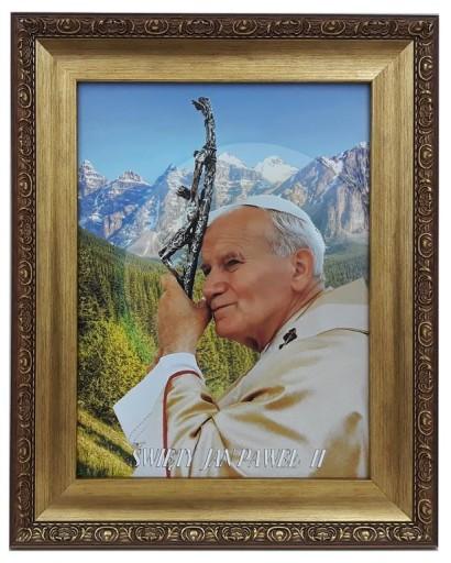 Obraz W Zlotej Ramie 42x52 Papieza Jana Pawla Ii 8641818772 Allegro Pl