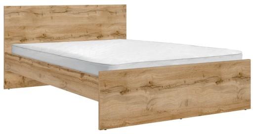 łóżko Dwuosobowe Zele 160x200 Black Red White