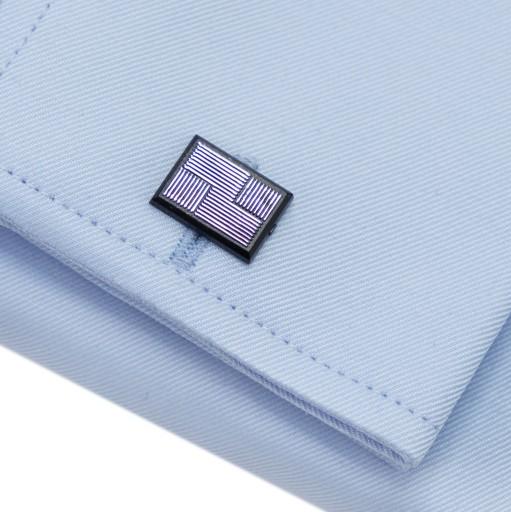 Niebieska Koszula Męska Gładka Spinki Slim Prezent 10042150849 Odzież Męska Koszule JS QPVDJS-5