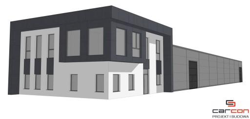 Projekt i budowa Biuro i Hala stalowa +antresola