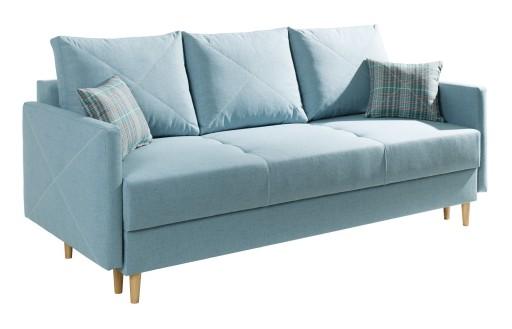 Kanapa Sofa Rozkładana Styl Skandynawski Pocket