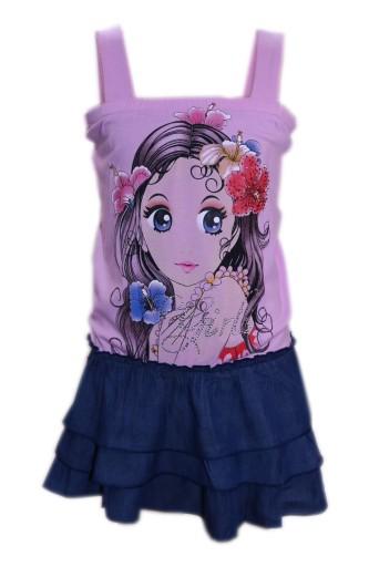 Krótka sukienka dziewczęca 140