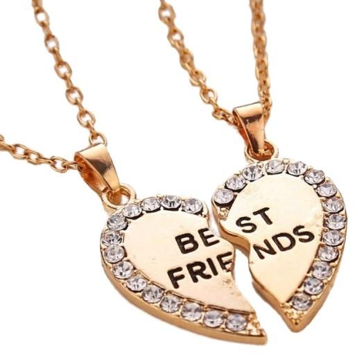 Naszyjnik Wisiorek Przyjazni Best Friends 2 Kolory 7555247563 Allegro Pl