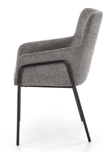 Krzesło K327 szary salon jadalnia fotel metal loft