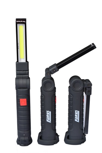 MOCNA LAMPA LATARKA WARSZTATOWA LED COB USB 3W
