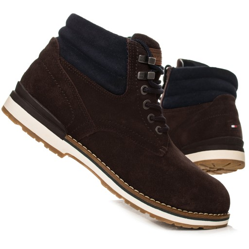 Buty Tommy Hilfiger Outdoor Suede 01748 Brązowe
