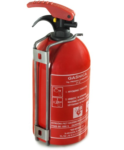 FIRE EXTINGUISHER CAR 1 Kg 5 YEAR WARRANTY + HOOK