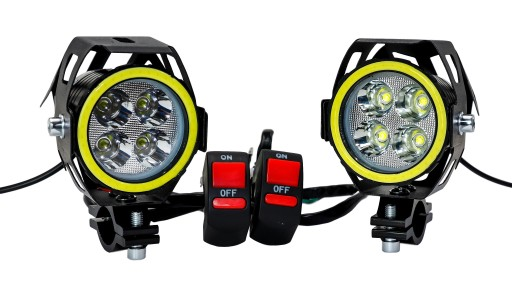 HALOGENS RING 4 x CREE LED 8000 LM + 2 SWITCHES