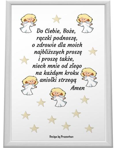e8dfbcbb5ccbc5 Obrazek MODLITWA dla dzieci A4 RAMKA Plakat Aniele 7464595976 ...