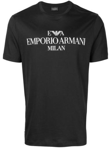 EMPORIO ARMANI KOSZULKA T-SHIRT Z LOGO CZARNY /L 8005692443 Odzież Męska T-shirty LV VDNFLV-3