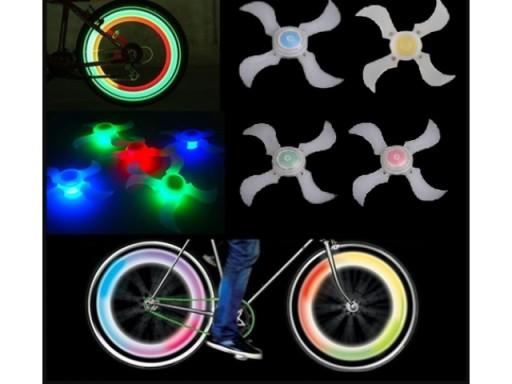 Nakładka Led świecące Szprychy Lampka Rower Motor