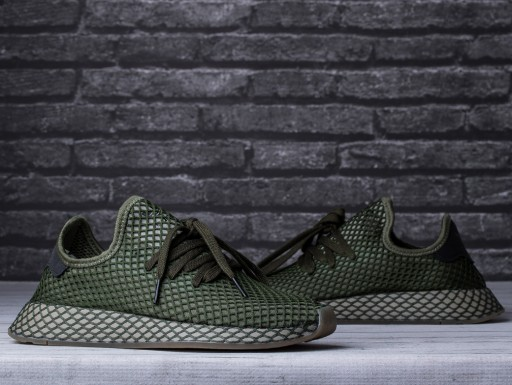 buty męskie adidas deerupt czarno zielone