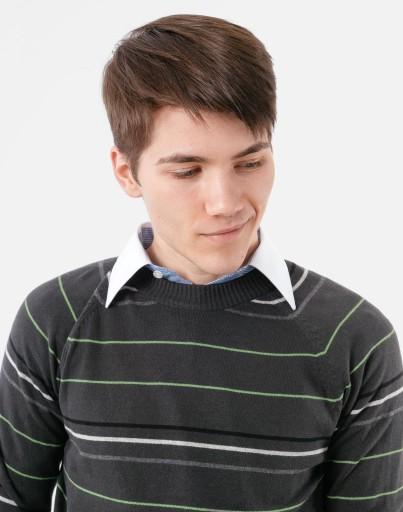 Sweter Męski PÓłgolf Swetry Bawełna CLOVER C7B XL 8838559715 Odzież Męska Swetry FV PZRBFV-5