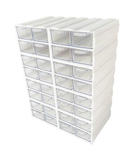 *** BIAŁY organizer: 32 małe szufladki ***