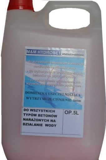Plastyfikator - wodouszczelniacz do betonu 5L
