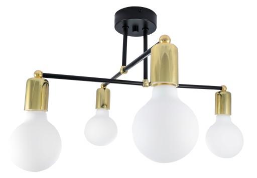 Nowoczesna Lampa wisząca Loft Edison złoty LED