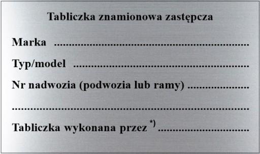 ТАБЛИЦА ИМЯ ТАБЛИЦЫ zastepcza, НАБОР 10 ШТ..