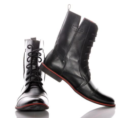 buty męskie wysokie wywijane
