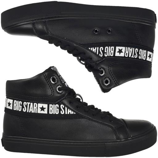 Big Star trampki damskie czarne EE274355 37