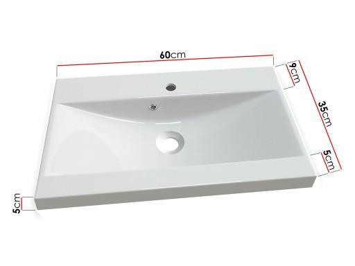 Umywalka 35ev17 Do łazienki Wpuszczana 60x35 Biała