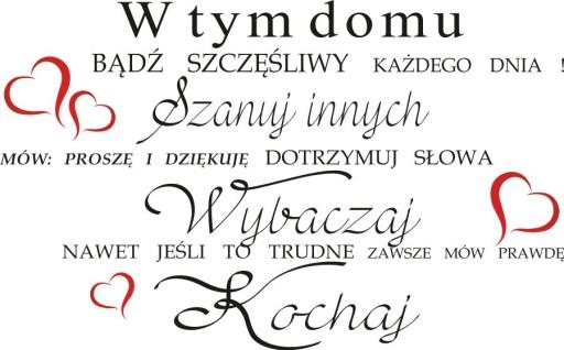 Napisy Na ścianę Naklejki Cytaty W Tym Domu 170 Cm