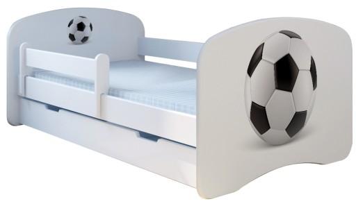 Łóżko dla dzieci 160 x 80 cm Szuflada BOOBOO Piłka