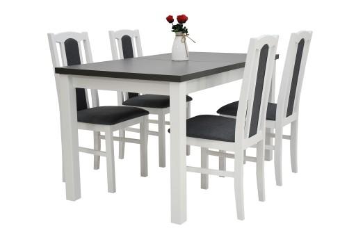 Stół + 4 krzesła Do Jadalni Salonu 968 zł Allegro.pl
