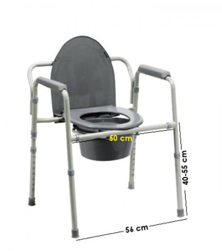 Turystyczne krzesło toaletowe składane przenośne 7262724183