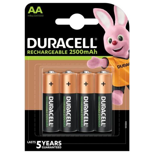 4x AKUMULATORKI baterie DURACELL R6 AA 2500 mAh