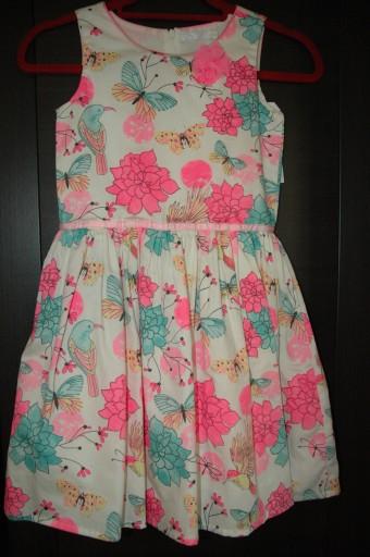 Elegancka letnia sukienka- roz. 134