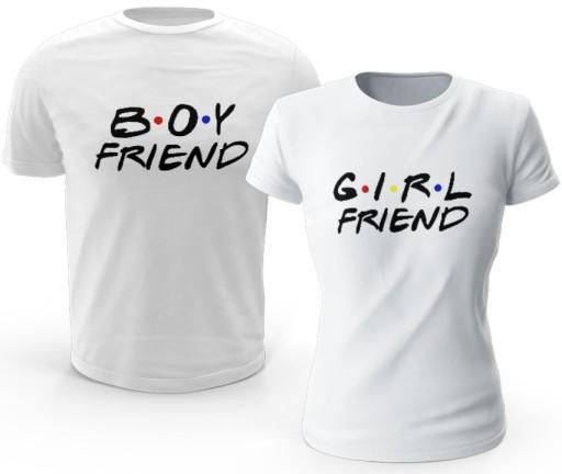 KOSZULKI GIRL FRIEND BOY FRIEND PREZENT WALENTYNKI