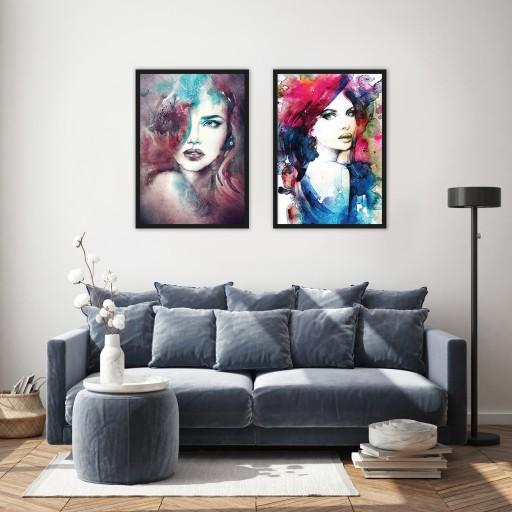 Nowoczesna Grafika Kobieta Do Salonu Obrazplakat