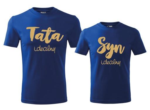 Komplet Dwoch Koszulek Dla Taty I Syna Na Prezent 6737359784 Allegro Pl