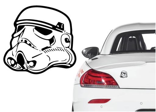 Naklejka winyl. na samochód Stormtrooper Star Wars
