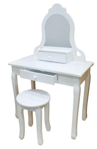 Toaletka Dla Dziewczynki Bella Taboret Lustro Biel 8731544112 Allegro Pl