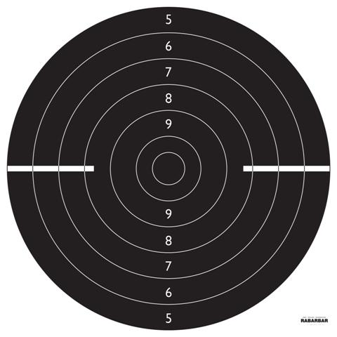 Tarcze strzeleckie Pistolet szybkostrzelny 100szt.