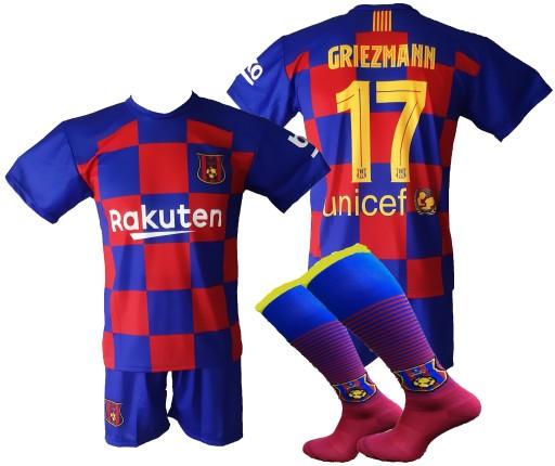 GRIEZMANN komplet sportowy strój piłkarski r. 140