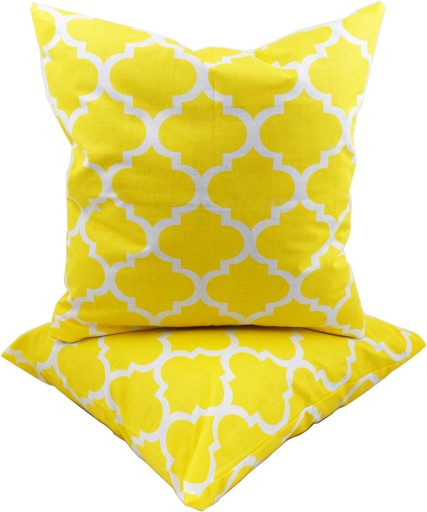 Poduszka dekoracyjna 40x40 żółte maroko