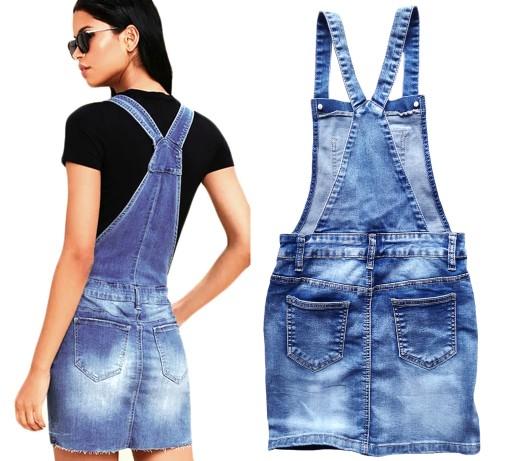 Ogrodniczki Jeansowe Spodnica Ogrodniczka Jeans 8113072177 Allegro Pl